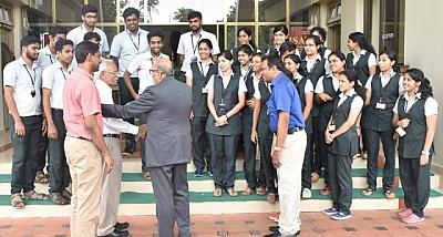 Deepak B Pathak Interacting with the students