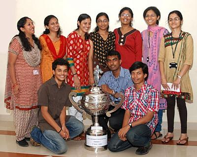 M G University Youth Festival - FISAT won Second  Runner  Up Trophy