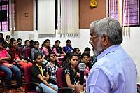 PADMABHUSHAN M C DUTTAN INTERACTING WITH THE STUDENTS