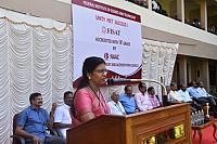 Vice Principal Dr. C sheela Speaks @ the felicitation cermony of NAAC Accreditation.