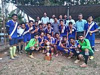 FISAT Football team won Adi shankara trophy