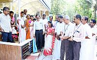 Waiting Shed in memory of C K Hima and Ambu Sivadas Inaugurated
