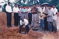 Laying of Foundation stone of Mens' Hostel