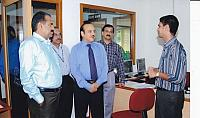 M  Venugopalan, Federal Bank visits FISAT